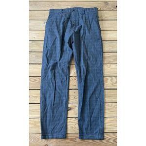 ANTHONY MORATO Men's Grey Plaid Dress Pants 34x30